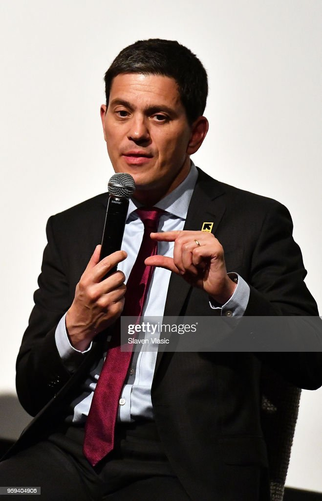 President and CEO David Miliband attends panel discussion for 'This is Home: A Refugee Story' - New York Premier Screening at Crosby Street Hotel on May 16, 2018 in New York City.