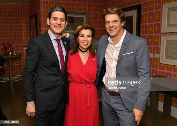 IRC President and CEO David Miliband executive producer HRH Princess Firyal of Jordan and executive producer Jason Blum attend 'This is Home A...