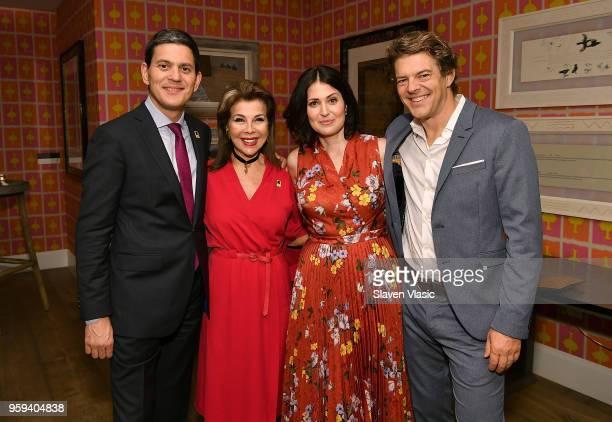 IRC President and CEO David Miliband executive producer HRH Princess Firyal of Jordan director Alexandra Shiva and executive producer Jason Blum...