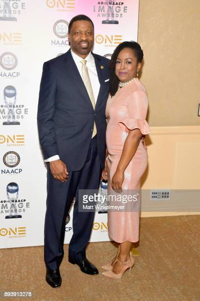 President and CEO Derrick Johnson attends the 49th NAACP Image Awards Nominees' Luncheon at The Beverly Hilton Hotel on December 16 2017 in Beverly...