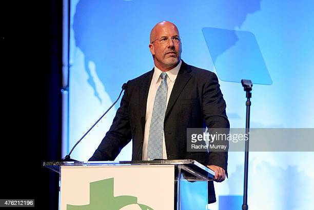 President and CEO Global Green USA Dr Les McCabe speaks onstage during Global Green USA 19th Annual Millennium Awards on June 6 2015 in Century City...