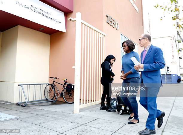 President and CEO Herb K Schultz and Actress Viola Davis visit Vaseline Healing Project with Direct Relief at Eisner Pediatric and Family Medical...