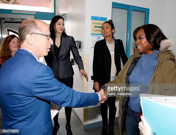 President and CEO Herb K. Schultz and Actress Viola Davis visit Vaseline Healing Project with Direct Relief at Eisner Pediatric and Family Medical...