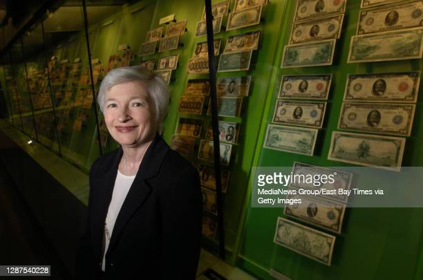 President and CEO Janet Yellen poses for a photo at the Federal Reserve Bank in San Francisco, Calif. On Monday May 9, 2005. She is a Professor of...