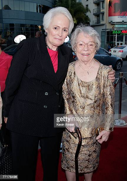 President and CEO Jean Picker Firstenberg and Patricia Hitchcock O'Connell arrive at AFI's 40th Anniversary celebration presented by Target held at...