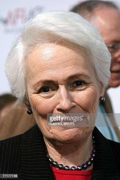 AFI President and CEO Jean Picker Firstenberg arrives for the AFI 40th Anniversary celebration 03 October 2007 in Hollywood California AFP...