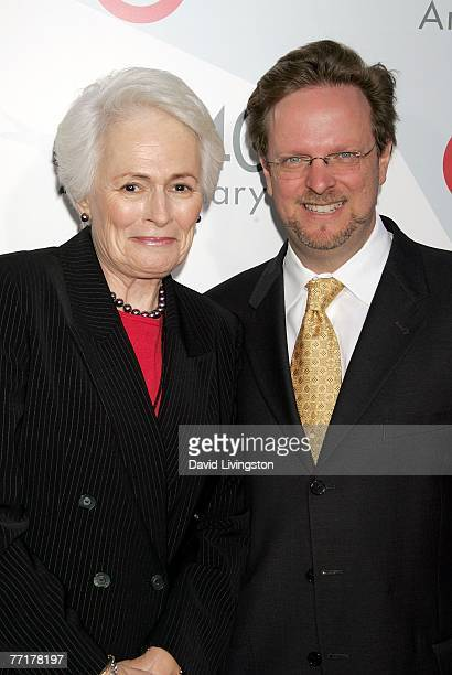 AFI President and CEO Jean Pickler Firstenberg and incoming AFI President and CEO Bob Gazzale arrive at AFI's 40th Anniversary celebration presented...