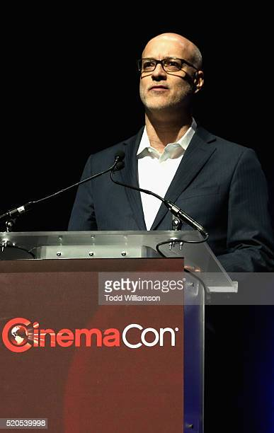 President and CEO John Fithian speaks onstage during the CinemaCon 2016 Gala Opening Night Event: Paramount Pictures Highlights its 2016 Summer and...