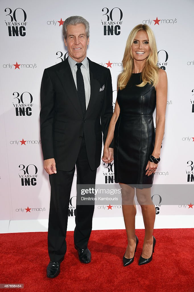 President and CEO, Macy's Terry Lundgren and Heidi Klum attend Heidi Klum + Gabriel Aubry's celebration of the launch of INC's 30th Anniversary Collection at IAC Building on September 10, 2015 in New York City.