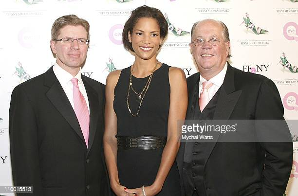 President and CEO Michael George, Veronica Webb and President of FFANY Joe Moore at Veronica Webb Hosts the 14th Annual QVC Presents FFANY Shoes on...