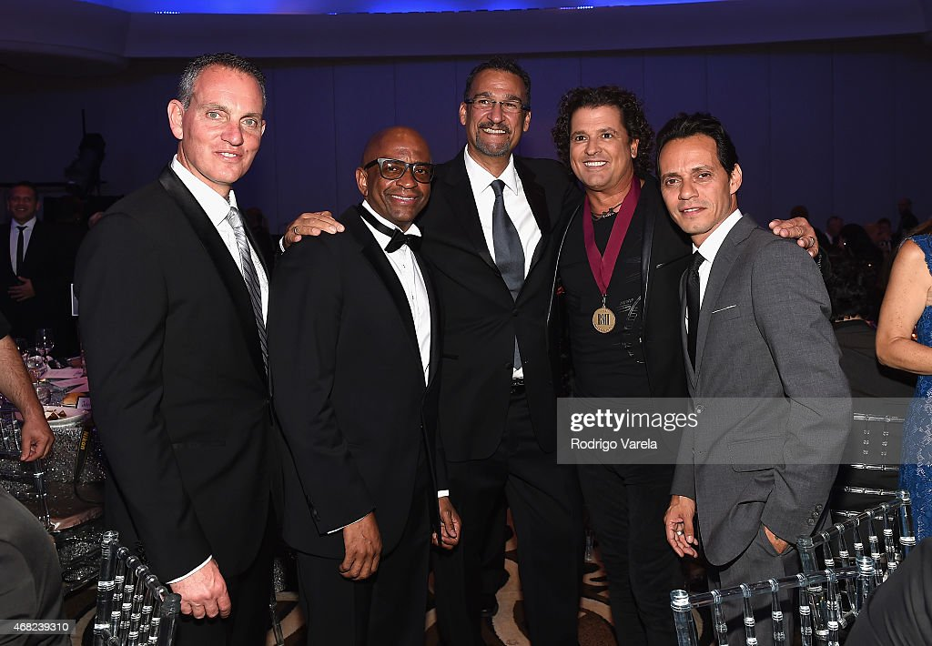 BMI President and CEO Mike O'Neill, Sergio George, Kike Santander, Carlos Vives and Marc Anthony attend BMI's 22nd Annual Latin Music Awards at Fountainbleau Miami Beach on March 31, 2015 in Miami Beach, Florida.