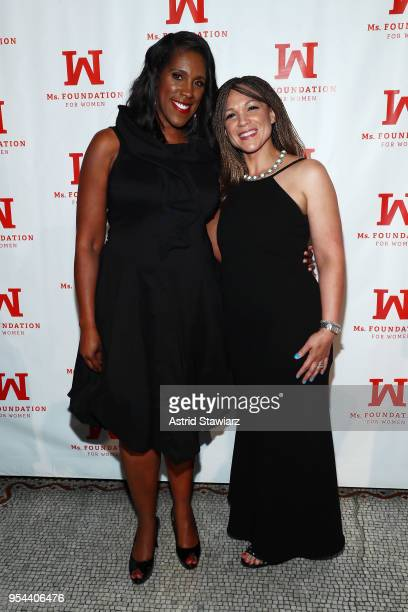 President and CEO Ms Foundation for Women Teresa Younger and Melissa HarrisPerry attend the Ms Foundation 30th Annual Gloria Awards at Capitale on...