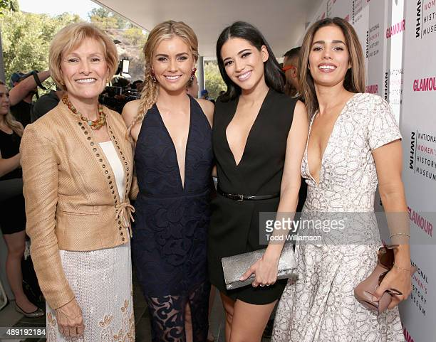 President and CEO National Women's History Museum Joan Wages actresses Brianna Brown Edy Ganem and Ana Ortiz attend the 4th Annual Women Making...