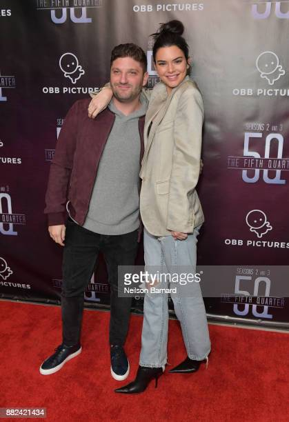 President and CEO OBB Pictures Michael Ratner and Kendall Jenner attend the premiere of OBB Pictures and go90's 'The 5th Quarter' at United Talent...