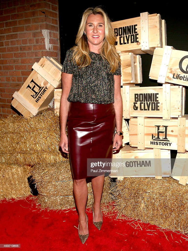 President and CEO of A&E Nancy Dubuc attends the 'Bonnie And Clyde' series premiere at The McKittrick Hotel on December 2, 2013 in New York City.