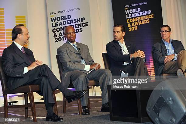 President and CEO of ATT Mobility and Consumer Markets Ralph De La Vega Frazier Wilson Hunter Biden and Paul Garcia attend Usher's New Look...