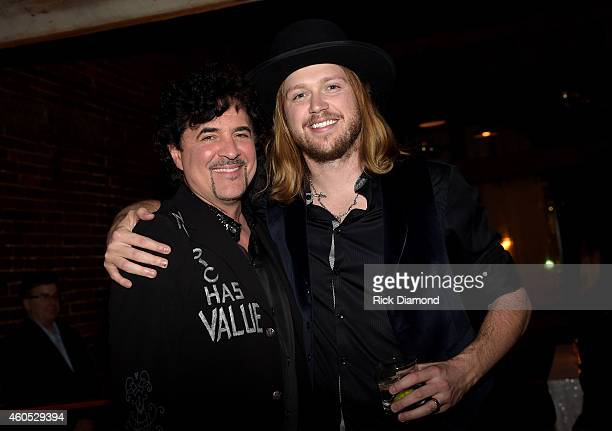 President and CEO of Big Machine Label Group Scott Borchetta and musical artist Michael Hobby attend the Inaugural Nash Icon ACC Awards postshow...