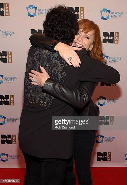 President and CEO of Big Machine Label Group Scott Borchetta and Reba McEntire attend the Inaugural Nash Icon ACC Awards postshow party honoring Reba...