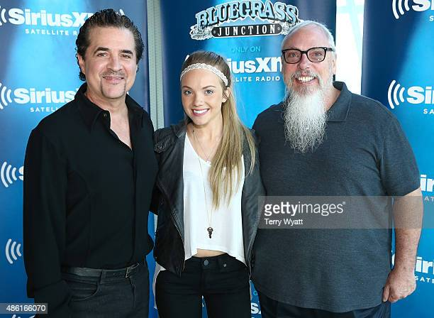 President and CEO of Big Machine Records Scott Borchetta Singer Danielle Bradbery and SiriusXM's senior director of country programming John Marks...