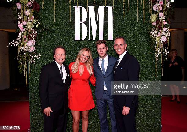President and CEO of BMI Mike O'Neill musicians Miranda Lambert and Anderson East Vice President of WriterPublisher Relations Jody Williams attend...