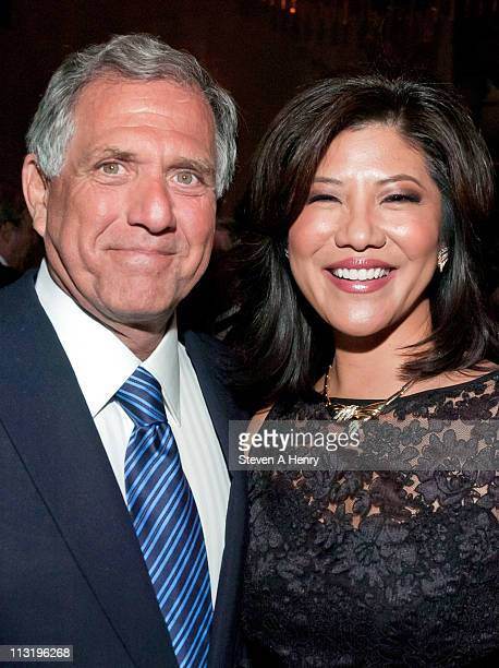 President and CEO of CBS Leslie Moonves and Julie Chen attend the Big Brothers/Big Sisters of New York City 2011 annual Sidewalks of New York awards...
