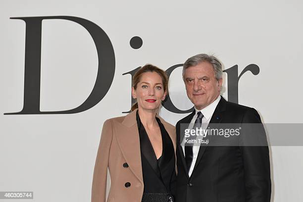 President and CEO of Christian Dior Sidney Toledano and Lucie de La Falaise attend 'Esprit Dior' Tokyo 2015 Fashion Show at Ryogoku Kokugikan on...
