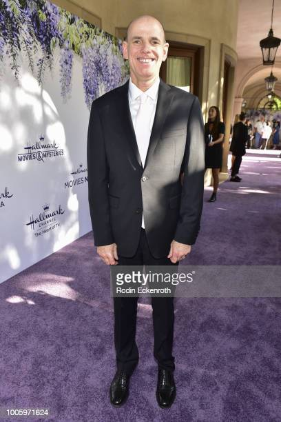 President and CEO of Crown Media Family Networks Bill Abbott attends the 2018 Hallmark Channel Summer TCA at a private residence on July 26 2018 in...