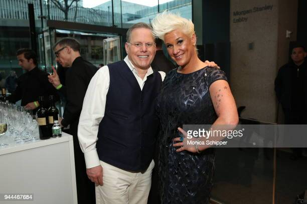 President and CEO of Discovery Inc David Zaslav and Anne Burrell attend the Discovery Upfront 2018 at the Alice Tully Hall at Lincoln Center on April...