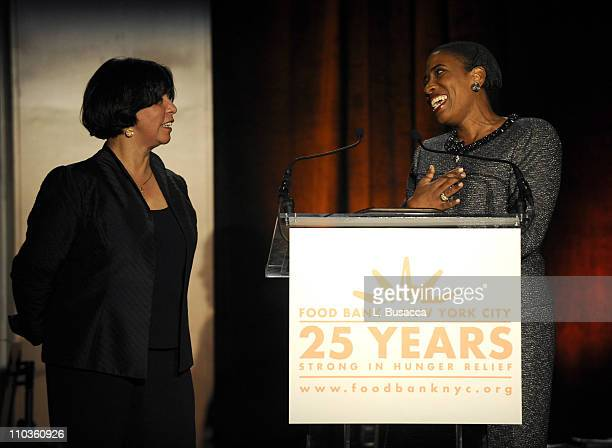 President and CEO of Food Bank For New York City Lucy Cabrera and Board Chair of Food Bank For New York City Carla Harris on stage during the Food...