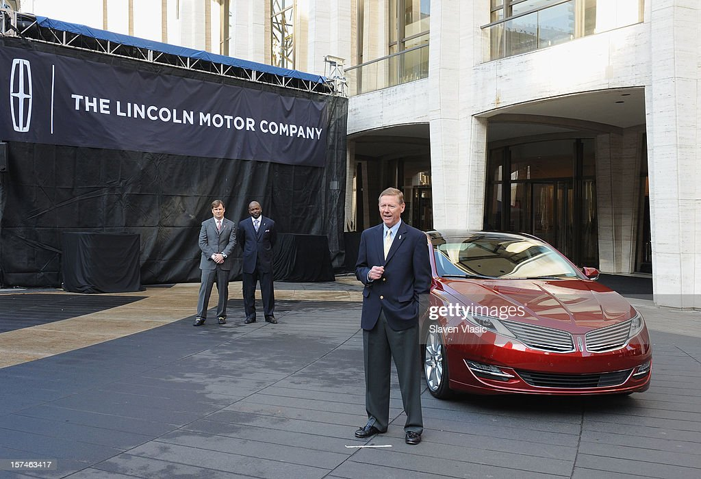 President and CEO of Ford Motor Company Alan Mulally attends Ford Lincoln Unveils New Brand Direction Lincoln With Emmitt Smith at Lincoln Center on December 3, 2012 in New York City.