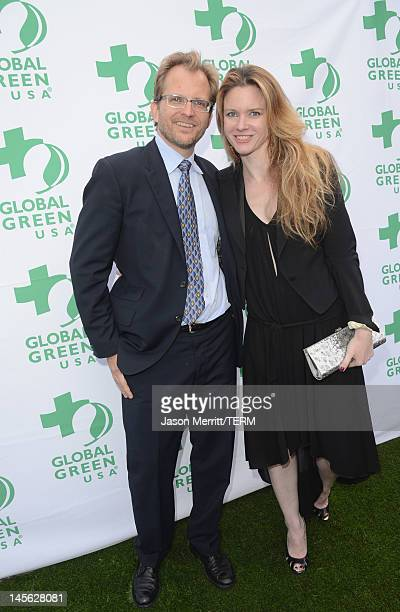President and CEO of Global Green Matt Petersen and writer Justine Musk attend the 16th Annual Global Green USA Millennium Awards held at Fairmont...