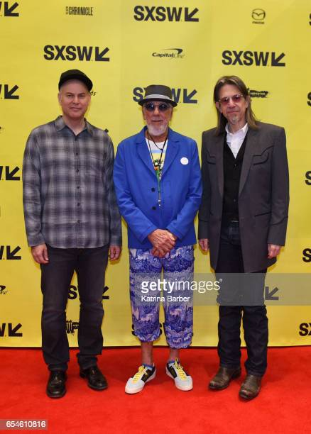 President and CEO of Goldenvoice Paul Tollet record producer Lou Adler and Vice President of the GRAMMY Foundation Scott Goldman attends 'From...