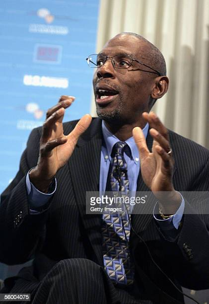 """President and CEO of Harlem Children's Zone Geoffrey Canada speaks during the """"America's Best Leaders: How do they lead? Where are they taking us?""""..."""