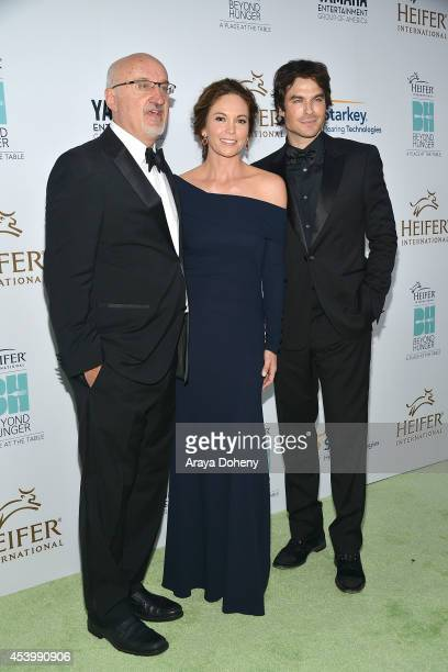 President and CEO of Heifer International Pierre Ferrari and honorees Diane Lane and Ian Somerhalder attend Heifer International's 3rd Annual 'Beyond...