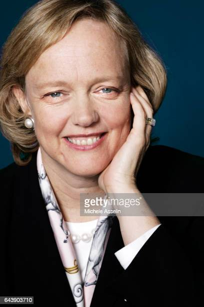 President and CEO of HewlettPackard Meg Whitman is photographed for Fortune Magazine in 2004 in Berlin Germany