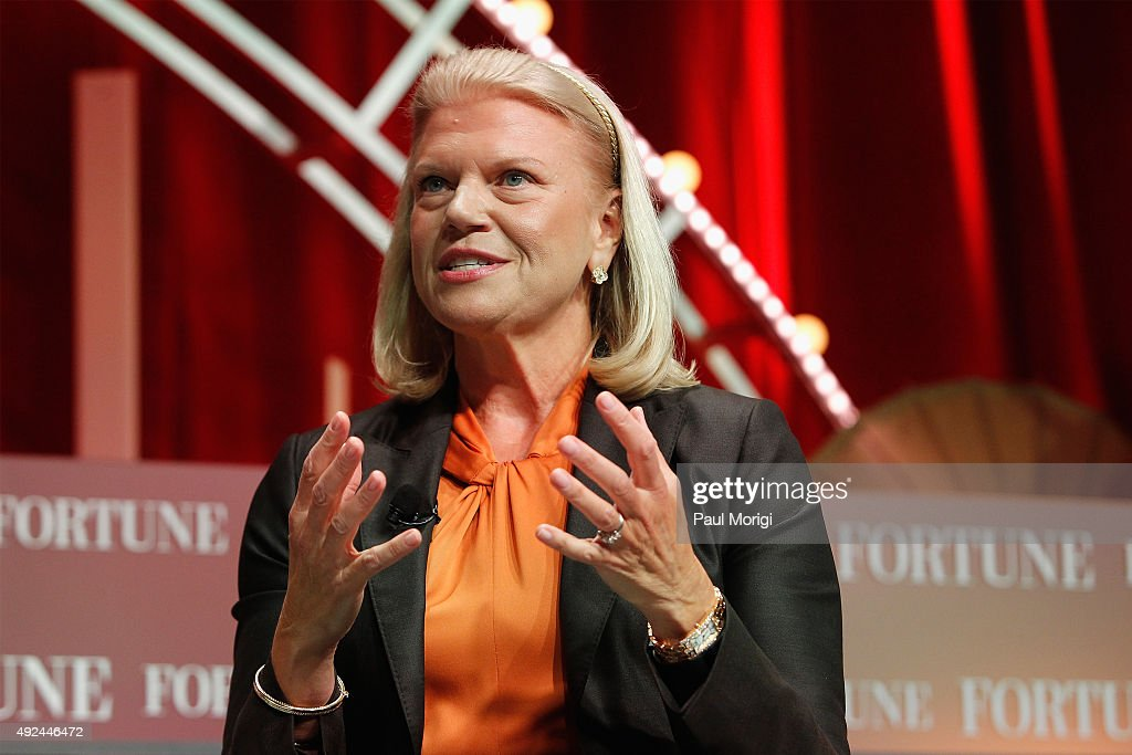 President and CEO of IBM Ginni Rometty speaks onstage during Fortune's Most Powerful Women Summit - Day 2 at the Mandarin Oriental Hotel on October 13, 2015 in Washington, DC.