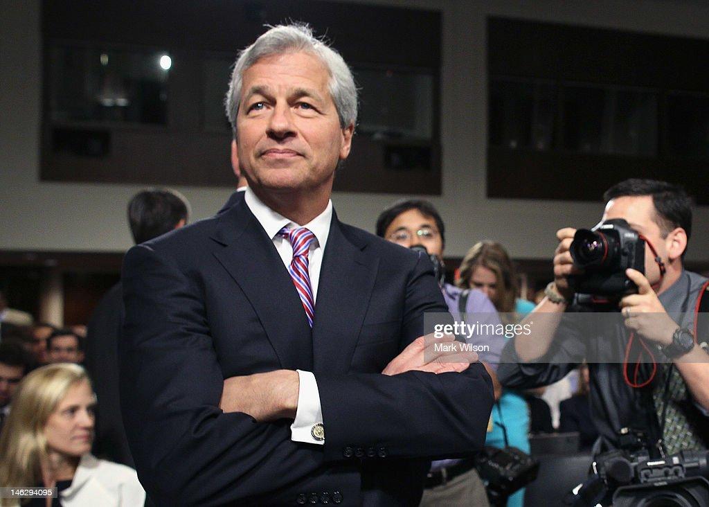 Jamie Dimon Testifies At Senate Hearing On JPMorgan Chase