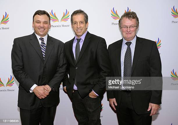 President and CEO of Lord Taylor Brendan L Hoffman designer Kenneth Cole and President and CEO of Phoenix House Howard Meitiner attend the 2011...