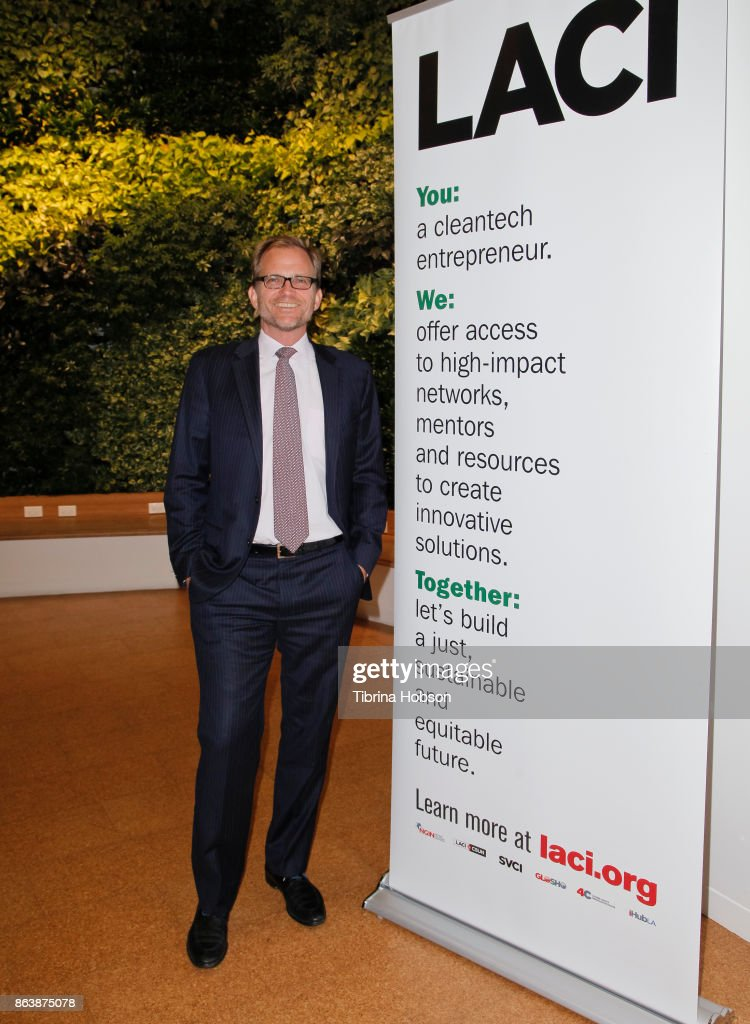 President and CEO of Los Angeles Cleantech Incubator (LACI) Matt Petersen attends the Los Angeles Cleantech Incubator celebration of new CEO Matt Petersen on October 19, 2017 in Los Angeles, California.