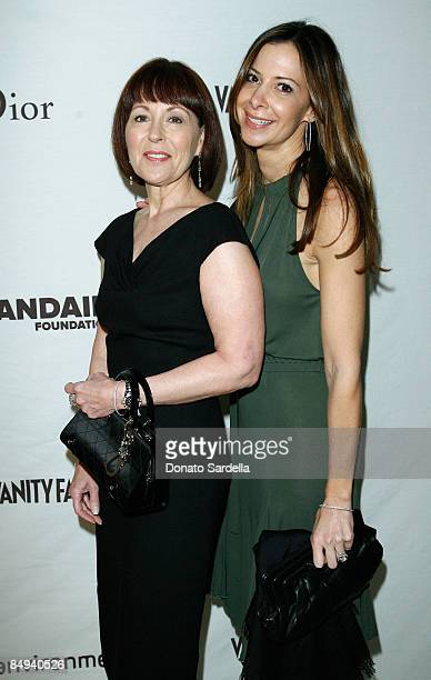 President and CEO of LVMH Perfumes and Cosmetics Pamela Baxter and Dianne Abra attend the Dior and Vanity Fair launch of BRANDAID Foundation held at...