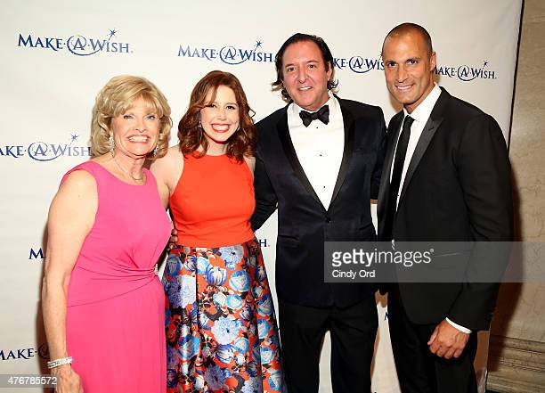 President and CEO of MakeAWish Metro New York and Western New York Pat Clemency Host Vanessa Bayer Gala Honoree and Founder Larry Scott Gottesman and...