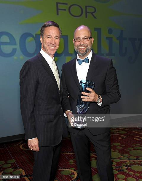 President and CEO of Marriott International Arne Sorenson and President of West Elm Jim Brett attend the 7th Annual PFLAG National Straight For...