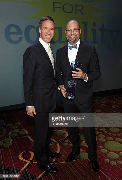 President and CEO of Marriott International Arne Sorenson and President of West Elm Jim Brett attend the 7th Annual PFLAG National Straight For...
