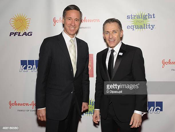 President and CEO of Marriott International Arne Sorenson and PFLAG National Executive Director Jody M Huckaby attend the 7th Annual PFLAG National...