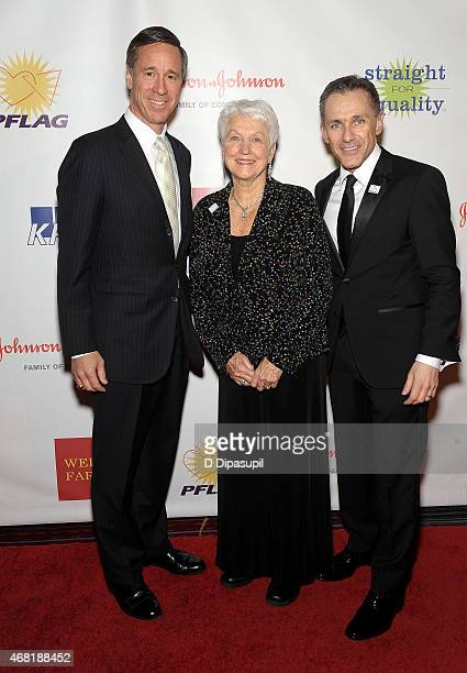 President and CEO of Marriott International Arne Sorenson National PFLAG President Jean Hodges and PFLAG National Executive Director Jody M Huckaby...