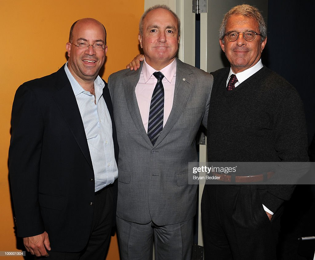 President and CEO of NBC Universal Jeff Zucker, creator and executive producer of Saturday Night Live Lorne Michaels and President and CEO of Universal Studios Ron Meyer attend the premiere of 'MacGruber' at Landmark's Sunshine Cinema on May 19, 2010 in New York City.