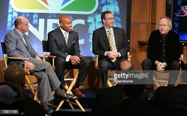 President and CEO of NBC Universal Jeff Zuckerformer football player Tiki Barber President of NBC News Steve Capus and Chairman of NBC Sports and...