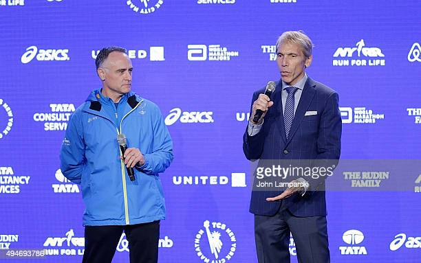 President and CEO of New York Road Runners, Michael Capiraso and president of events New ayork Road Runners race director, TCS New York City Marathon...