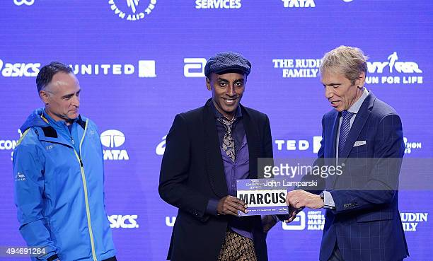 President and CEO of New York Road Runners, Michael Capiraso, chef Marcus Samuelsson and president of eventsNew ayork Road Runners race director, TCS...