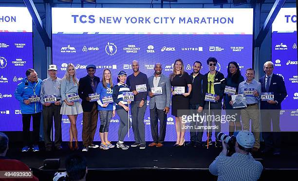 President and CEO of New York Road Runners, Michael Capiraso, Dave Obelkevich, Katarina Bowden, Marcus Samuelsson, Jacquelyn Mahoney, Julia...